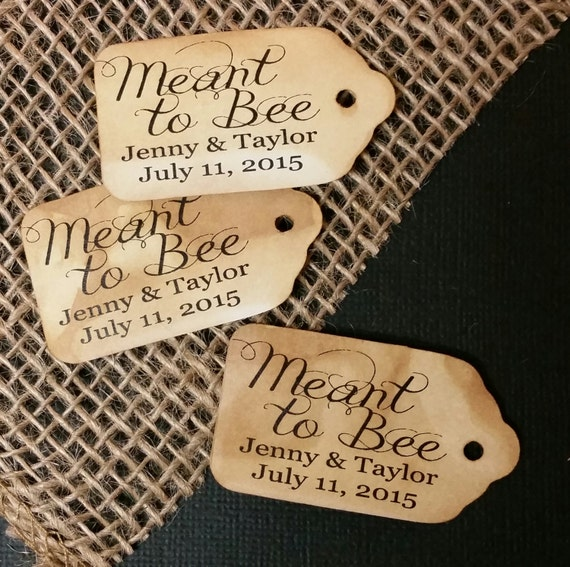 """Choose your Amount MEANT to BEE SMALL Personalized Favor 2""""  Tag"""