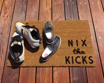 Nix the Kicks™ Door Mat (doormat) - lets your guests know to take off shoes