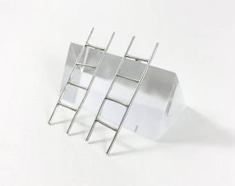Ladder Earrings // Sterling Silver or Gold Fill