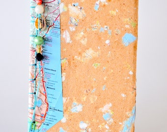 Hand Made Paper Journal Cover--Dreaming of a Florida Vacation PM-14FLA