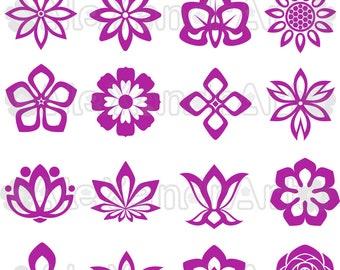 Flowers SVG,DXF,PNG,eps,49 files,flower svg, flowers desings svg,petals svg,ornament svg,Daisy flower svg,rose flower svg