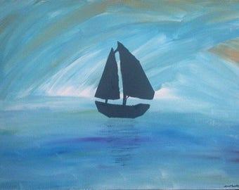 Sailing on a calm sea (Original)