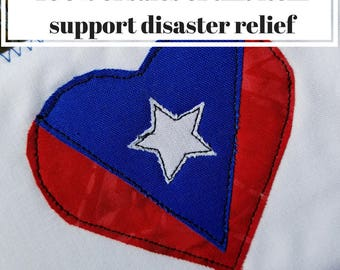 Puerto Rico Strong Postcard Fuerte Hurricane Maria Fundraiser Quilted Fabric Postcards Mini Quilts