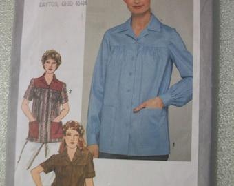 Simplicity 9729 Misses Size 16 short sleeved or long sleeved smock/jacket