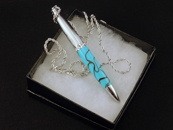 Pen Necklace in Turquoise