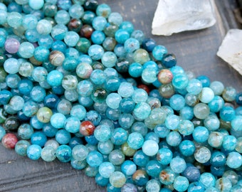8mm agate, sea Blue Agate, gemstone beads, round beads, faceted beads, blue beads, full strand,