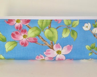 Slim Makeup Bag - Brush Bag - Pencil Pouch - Small Zippered Pouch - Padded Pouch - Golf Gifts for Women - Gifts for Women
