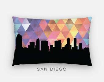 San Diego skyline pillow | San Diego pillow | San Diego decor | geometric home decor | geometric pillow | San Diego California home decor