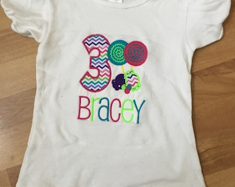 Candy birthday shirt/outfit