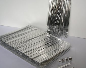 """1000pcs 4"""" SILVER metallic twist ties foil twist ties for cello bags treat bags in birthday party wedding party"""