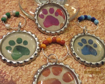 Paw Wine Charms - Set of 4