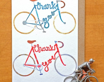 Bicycle Thank You Card  - A6