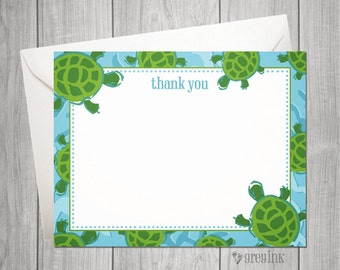 Custom Turtle Thank You Flat Notes inspired by Lilly