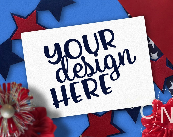 Mockup, Card, Blank, Photo, Styled, July, Patriotic, Summer, Craft Mockup, Mockup Design, Svg Mockup, Mockup for Svg, Jpeg, Mock up, Vinyl