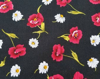 Poppies and Daisies Cotton Fabric
