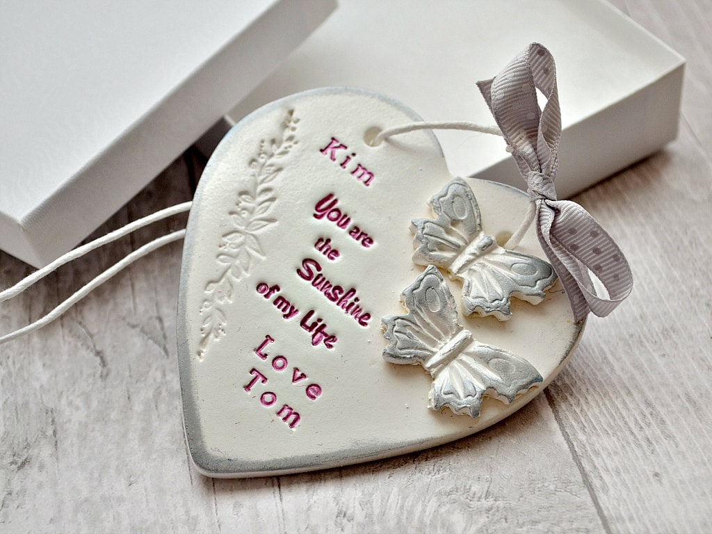 You are sunshine of my life Custom Valentines day gift Clay