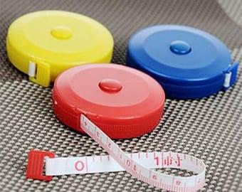 3 x Measuring Tape 150cm length Retractable - 3 Colors total