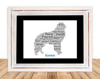 Kuvasz,Kuvasz Art,Kuvasz Artwork,Kuvasz Print,Custom, Personalize, Pet Gift, Print, Dog Art, Pet Art, Pet Memorial, Custom Dog