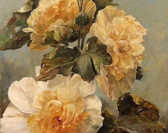 Super Giclée's of  Big flower paintings yellow rose