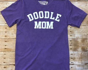 Heathered Purple Dog Mom Quote Tee Choose your quote