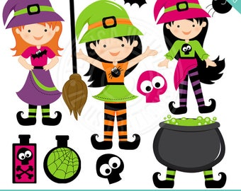 cute witch clipart etsy rh etsy com