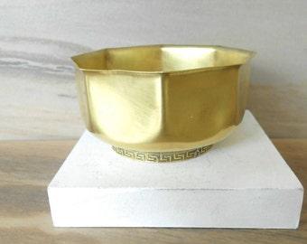 """Brass Planter, Small Planter, Brass Succulent Planter, Indoor Planter, Brass Flower Pot/2"""" T/"""