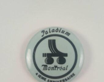Vintage Paladium Roller skates pinback button