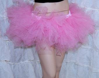 Cotton Candy Pink Tutu  pastel goth rave festival Trashy Ballet TuTu  tulle Skirt Adult All Sizes MTCoffinz