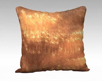 Gold Throw Pillow - Luxurious Decorative Pillow - Holiday Decor - Designer Cushion - Shiny Gold Pillow - Unique Pillow Cover