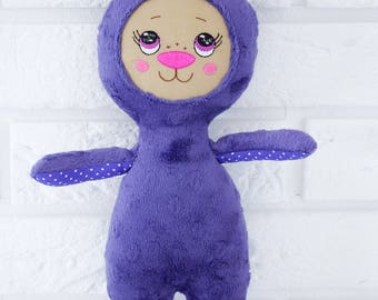Rabbit purple plushie