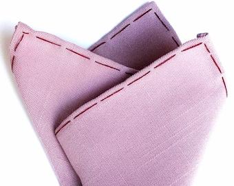 Mauve linen pocket square