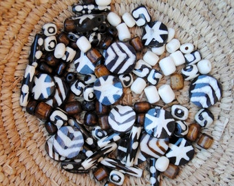 Mixed Bone Bead Assortment
