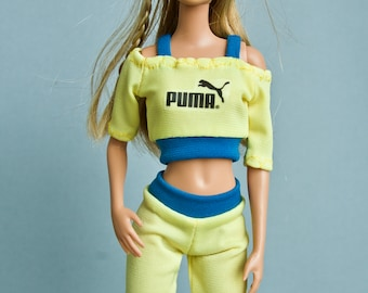 Barbie clothes - Barbie top & Barbie leggins Fashion Royalty doll clothes Collectible doll clothes
