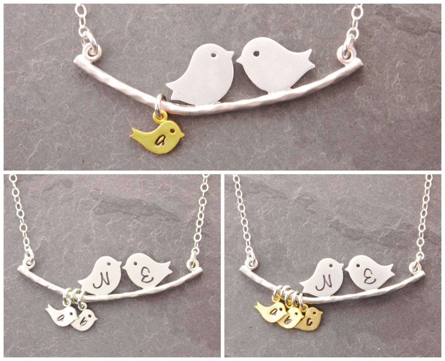 bird alibalijewellery img product silver love pendant and flower gold necklace
