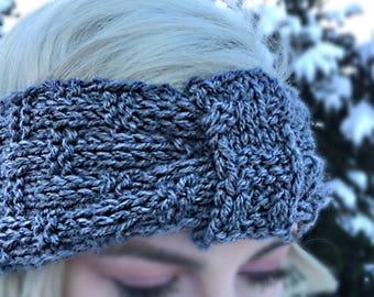Hand-knit Basketweave Headband