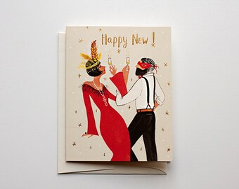 Happy New - Gatsby New Year Card