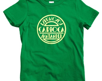 Kids Carioca T-shirt - Baby, Toddler, and Youth Sizes - Spanish Tee, Spain, Art Deco, España - 4 Colors