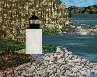 Whitlocks Mill, ME Lighthouse quilt pattern