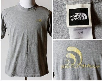 Men's North Face TShirt - L 90s Retro Vintage Shirt - Large L Logo Front and Back