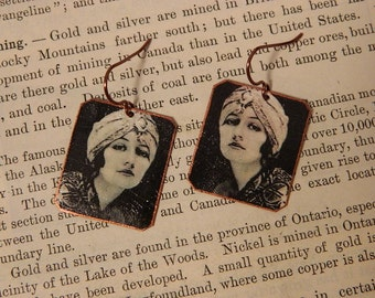 Doris Kenyon earrings Old Hollywood jewelry mixed media jewelry