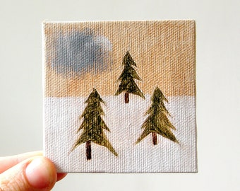tiny forest 12 / original painting on canvas
