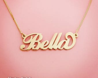 Bella Necklace/Isabella Necklace/Bidesmaid Gifts/Girlfriend Gift/Personalized Jewelry/Personalized Gift/Custom Necklace/Gold Name Necklace