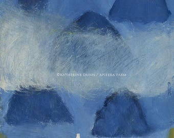 "Original painting ""Dogwood Road to Ocean"""