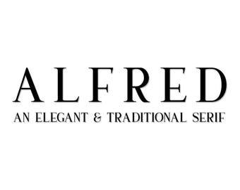 Alfred, font, elegant font, serif font, traditional font, stylish font, masculine font, classy font, serif, font, typeface, masculine