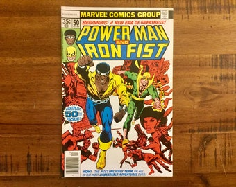 1978 Power Man and Iron Fist #50 / VF-FN / First Luke Cage - Iron Fist Team-Up! / Marvel Comics / Jim Shooter/ / Hot Comic!