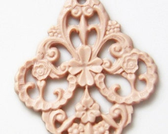 6 pcs of german filigree charm 0289-45x55mm-3-latte