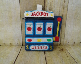 Wristlet Bag - Slot Machine - Casino - Jackpot