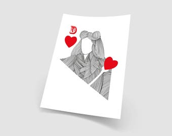 """""""Queen of hearts"""" decorative poster A3"""