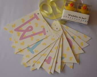 Waddle It Be? Gender Reveal Rubber Duck Fizz Set and Banner
