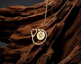 Graduation gift • Personalized Fingerprint Necklace • Medical Student Gift  • Stethoscope Necklace • White Coat Ceremony Gift D1-MLB16